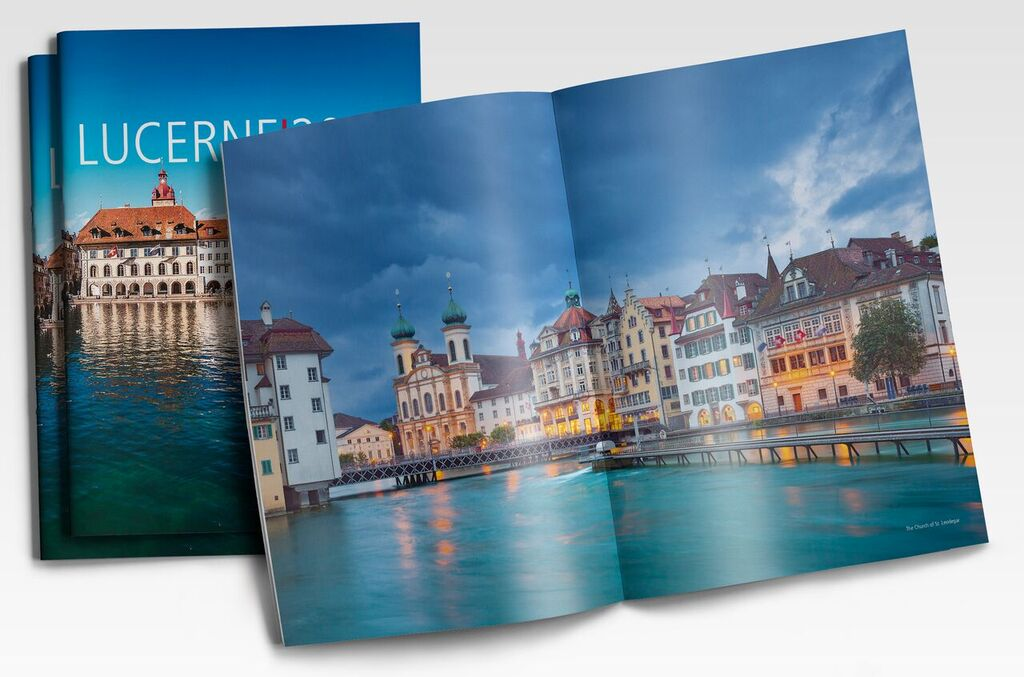 The Lucerne tourist guide will be printed live on the Ricoh Pro™ VC70000