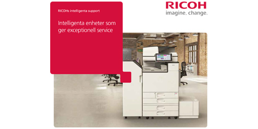 RICOH Intelligent Support Broschyr om RICOHs intelligenta support